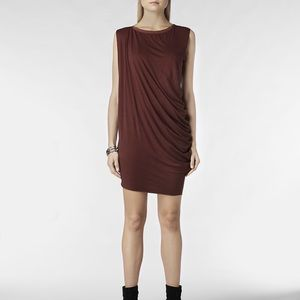 All Saints Rally Tee Dress in Maroon